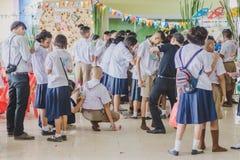 KANCHANABURI TAILANDIA - 23 MARZO: Provid della scuola di Wat Krangthong Fotografia Stock Libera da Diritti