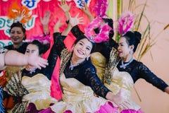 KANCHANABURI TAJLANDIA, WRZESIEŃ - 28: Unidentiffied kobiety te fotografia stock