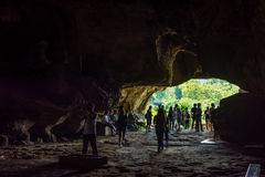 KANCHANABURI, TH - NOVEMBER 13: Krasae cave as part of the path Line Railway World War 2 The place was recorded in world history. Royalty Free Stock Image
