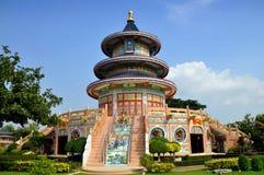 Kanchanaburi, Thaïlande : Temple de Qing Shou SI Images libres de droits