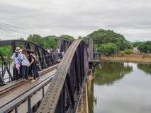 The River Kwai Bridge. KANCHANABURI,THAILAND - AUGUST 27, 2017 : The River Kwai Bridge, Death railway bridge is a history of world war ii, Kanchanaburi Stock Photography