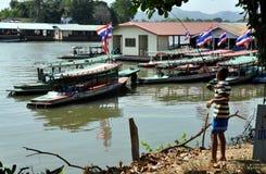 Kanchanaburi, Thailand: Boy Fishing Royalty Free Stock Photo