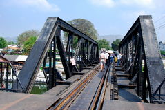 Kanchanaburi, Thailand: Bridge on River Kwai Stock Photography