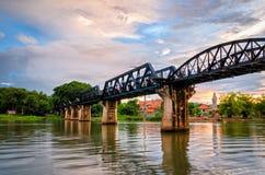Kanchanaburi (Thailand), Bridge on the River Kwai Royalty Free Stock Images