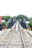 Kanchanaburi, Thailand: Bridge on River Kwai Royalty Free Stock Images
