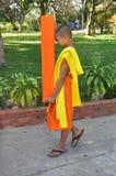 Kanchanaburi, Thailand: De Monnik van de student Stock Fotografie