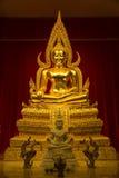 Kanchanaburi, Thailand - December, 26, 2016 :  Golden Buddha Sta Stock Photos