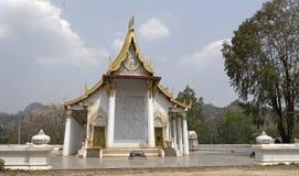 Kanchanaburi, Thailand 19,2018 Februari: Tempel Wat Trai Rattana Royalty-vrije Stock Foto's
