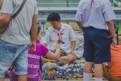 KANCHANABURI THAILAND - FEBRUARY 4 : Unidentified People select Royalty Free Stock Photos