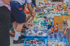 KANCHANABURI THAILAND - FEBRUARY 4 : Unidentified People select Royalty Free Stock Image