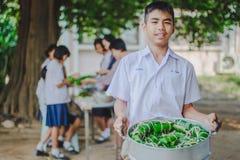 KANCHANABURI THAILAND - FEBRUARY 22 : Unidentified studentslear stock image