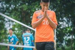 KANCHANABURI THAILAND - JULI 18: Niet geïdentificeerde studenten playin stock afbeelding