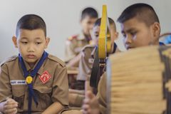 KANCHANABURI THAILAND - JUNE 13 : Unidentified Boy scouts and R stock image
