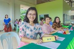 KANCHANABURI THAILAND - JUNE 1 : Unidentified teachers welcome t