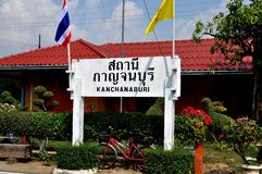Kanchanaburi, Thailand: Kanchanburi Railway Station Royalty Free Stock Photo