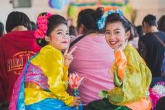 KANCHANABURI THAILAND - 23. MÄRZ: Wat Krangthong-Schule-provid Stockbild