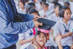 KANCHANABURI THAILAND - 23. MÄRZ: Wat Krangthong-Schule-provid Stockfotos