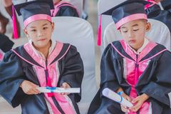 KANCHANABURI THAILAND - MAART 23: Wat Krangthong-school provid royalty-vrije stock foto's