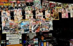 Kanchanaburi, Thailand: Magazines at News Stand Royalty Free Stock Photos