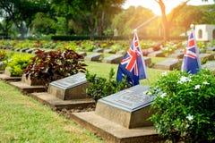 KANCHANABURI, THAILAND - May , 2017: Military coalition tomb tag Stock Photos