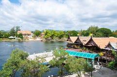 Kanchanaburi, Thailand - May 23, 2014: View over River Kwai, Kanchanaburi province, Thailand. Royalty Free Stock Image