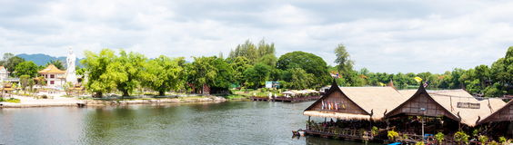 Kanchanaburi, Thailand - May 23, 2014: View over River Kwai, Kanchanaburi province, Thailand. Royalty Free Stock Photo