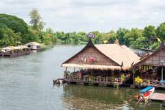 Kanchanaburi, Thailand - May 23, 2014: View over River Kwai, Kanchanaburi province, Thailand. Stock Photo