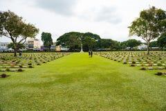 Kanchanaburi, Thailand - 7. November 2015: Historische Monumente Kriegs-Kirchhof-Don Raks von verb?ndeten Gefangenen des Zweiten  lizenzfreies stockbild