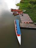 KANCHANABURI, THAILAND - NOVEMBER 26: long tail boat with uniden Stock Image