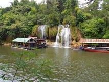 KANCHANABURI, THAILAND - NOVEMBER 26: unidentified tourist in fl Royalty Free Stock Images