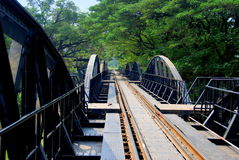 Kanchanaburi, Thailand: River Kwai Bridge Royalty Free Stock Photography