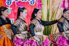 KANCHANABURI THAILAND - SEPTEMBER 28 : Unidentiffied female te stock images