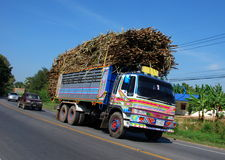 Kanchanaburi, Thailand: Truck with Sugar Cane Stock Photo
