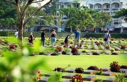 Kanchanaburi, Thailand: WWII Cemetery Royalty Free Stock Photo