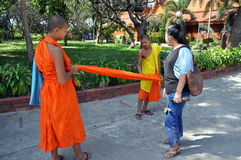 Kanchanaburi, Thailand: Young Monks Royalty Free Stock Photo