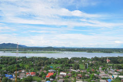 Kanchanaburi view. High angle view of thamuang, kanchanaburi province Stock Photos