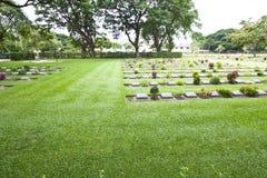 Kanchanaburi War Cemetery Royalty Free Stock Photos