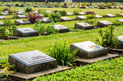 Kanchanaburi War Cemetery (Don Rak) Royalty Free Stock Photography