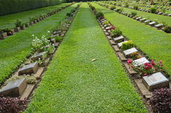 Kanchanaburi War Cemetery (Don Rak) Royalty Free Stock Image