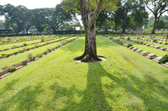 Kanchanaburi War Cemetery (Don Rak) Royalty Free Stock Photos