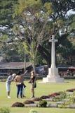 Kanchanaburi War Cemetery in Kanchanaburi, Thailand. Kanchanaburi War Cemetery World War 2 Memorial in Kanchanaburi, Thailand Royalty Free Stock Photography