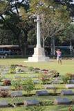 Kanchanaburi War Cemetery in Kanchanaburi, Thailand Royalty Free Stock Photos