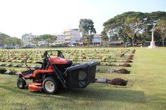 Kanchanaburi War Cemetery in Kanchanaburi, Thailand Stock Photography