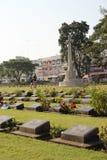 Kanchanaburi War Cemetery in Kanchanaburi, Thailand Stock Image