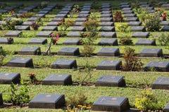 Kanchanaburi War Cemetery in Kanchanaburi, Thailand Stock Photo
