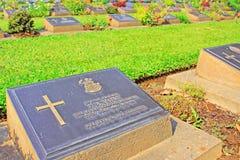 Kanchanaburi War Cemetery, Kanchanaburi, Thailand. Kanchanaburi War Cemetery is the main prisoner of war cemetery for victims of Japanese imprisonment while Stock Photo