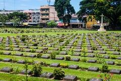 Kanchanaburi War Cemetery Royalty Free Stock Images