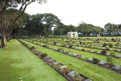 Kanchanaburi War Cemetery, Thailand Royalty Free Stock Photography