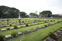 Kanchanaburi War Cemetery, Thailand Royalty Free Stock Images