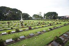 Kanchanaburi War Cemetery, Thailand Royalty Free Stock Images